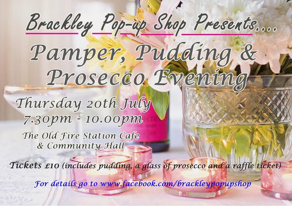Pamper pudding   prosecco poster small scale